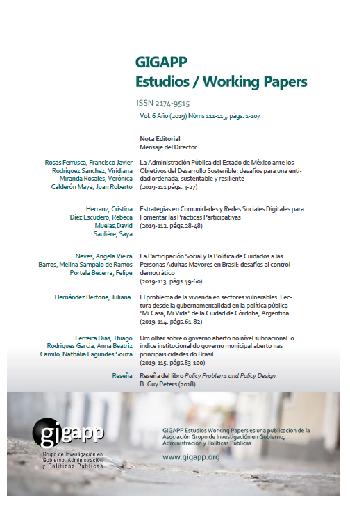 Estudios Working Papers GIGAPP 111-115